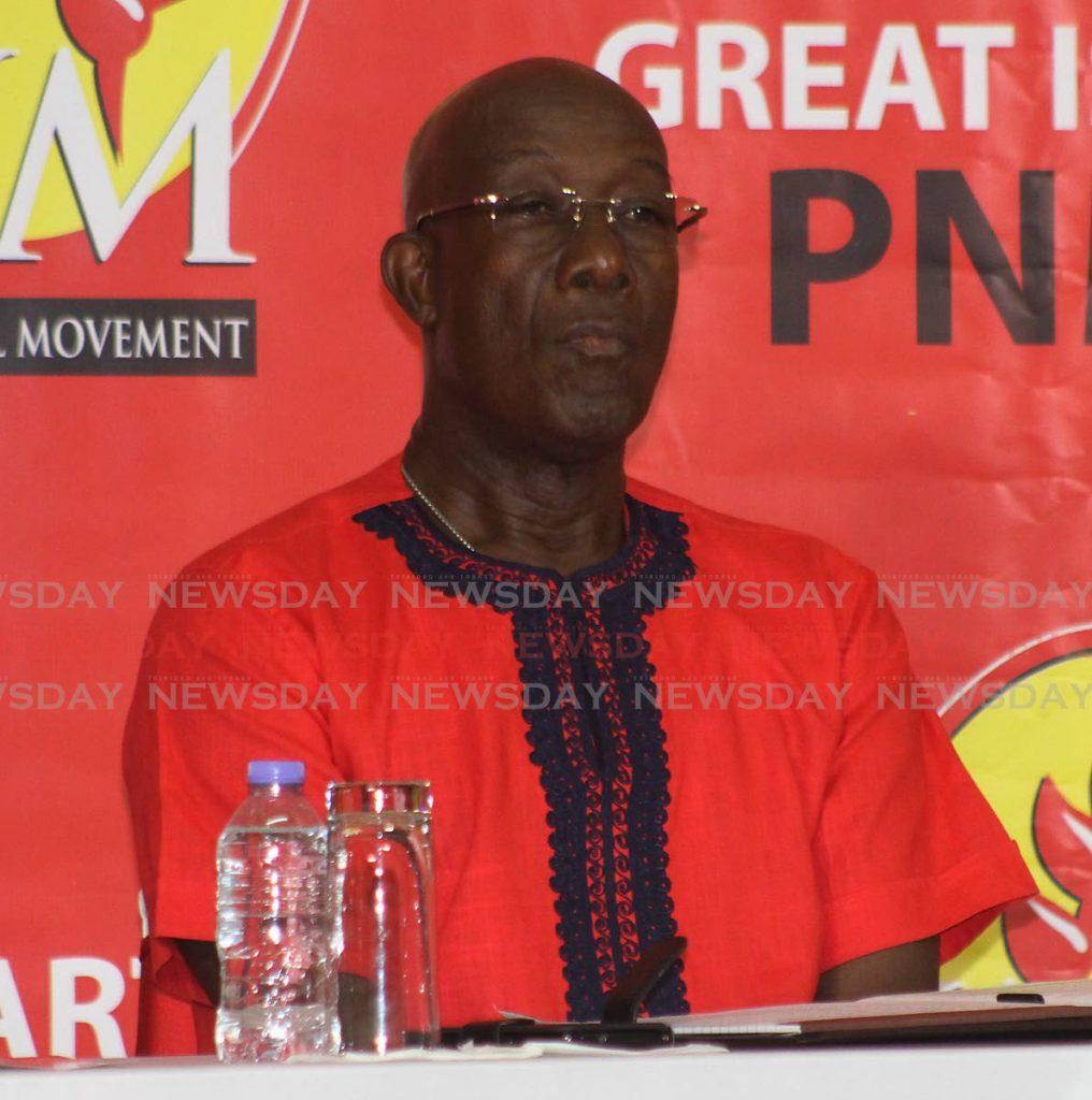 PNM political leader Dr Keith Rowley.  -
