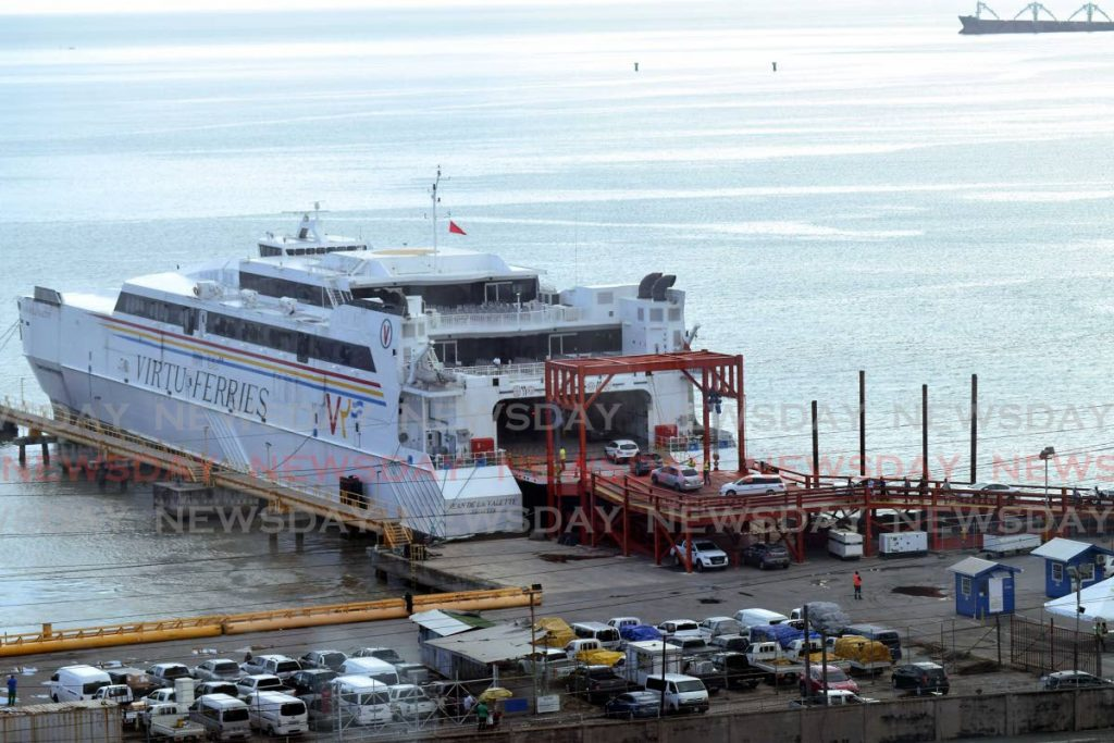 The Jean de la Valette at the ferry terminal in Port of Spain.  -