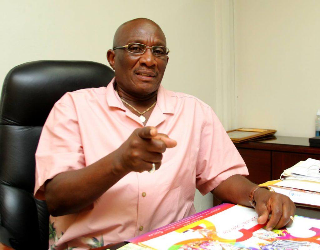 PNM Moruga/Tableland candidate Winston Peters. -