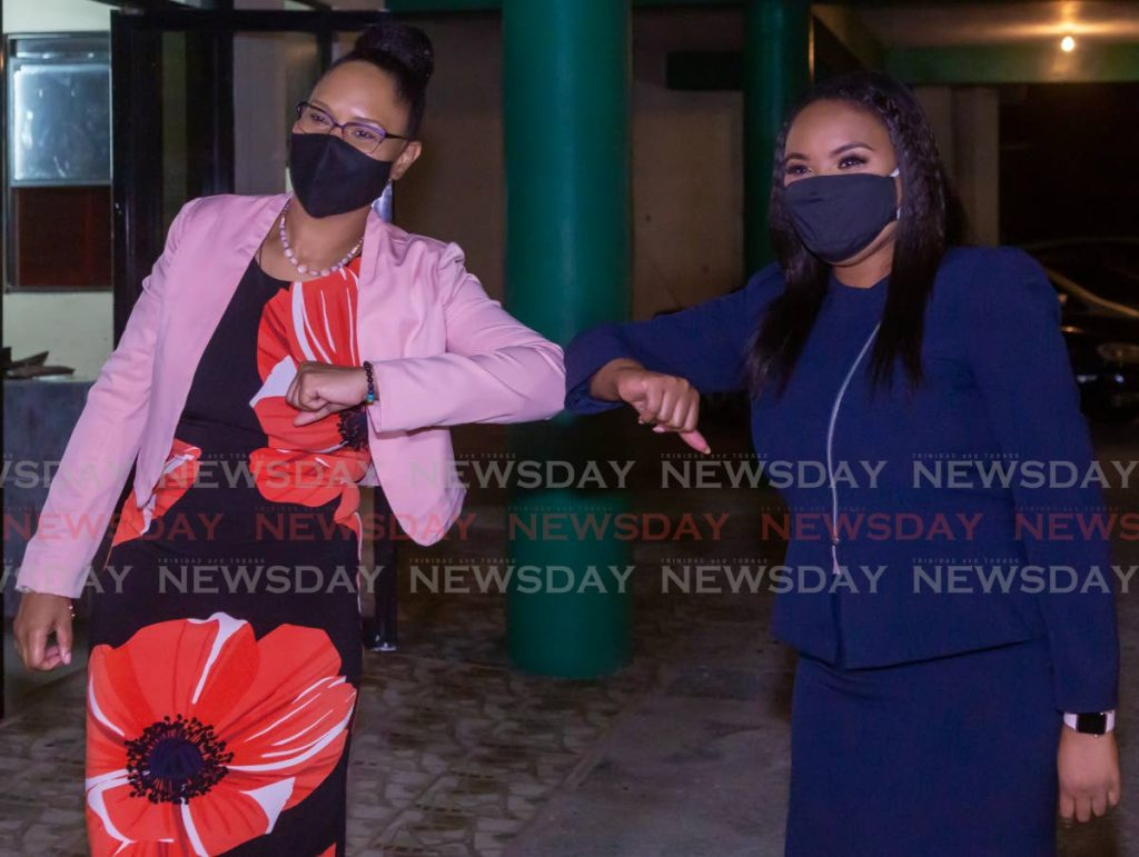 Tobago East MP Ayanna Webster-Roy, left, and Tobago West MP Shamfa Cudjoe, right, will be battling to retain their seats for the PNM in the August 10 general election.  -