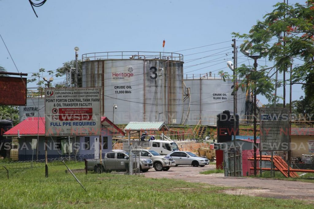 Heritage Petroleum tank farm on the Southern Main Road, Point Fortin. Heritage on Thursday reported earnings of $5.4 billion and $1.4 billion in profit in ten months up to September 30, 2019. - Lincoln Holder