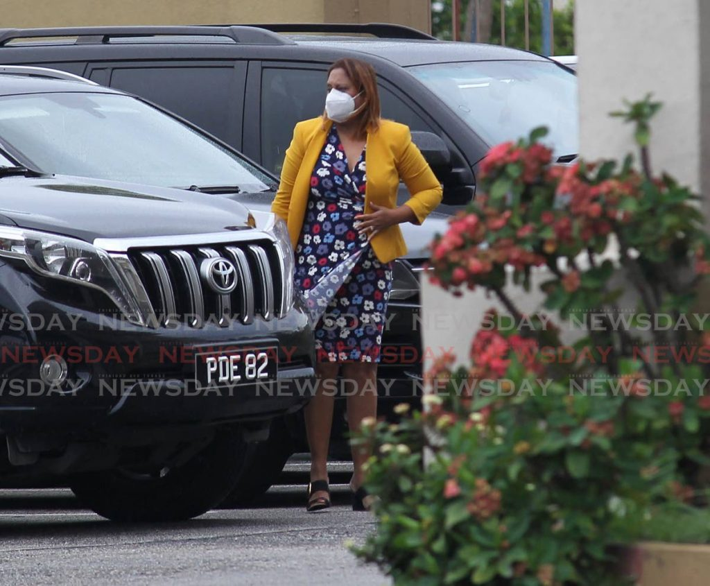 In this June 17, 2020 file photo, Ramona Ramdial arrives at M Rampersad building, San Fernando to be screened by the UNC executive for the Couva North seat which she served as MP for the last five years. Ramdial was replaced by Ravi Ratiram as the candidate. PHOTO BY LINCOLN HOLDER -