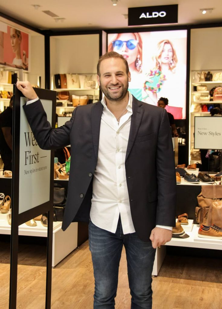 Businessman Omar Hadeed at the opening of the Aldo store in C3 Centre in San Fernando in 2017. PHOTO BY JEFF K MAYERS - JEFF K MAYERS