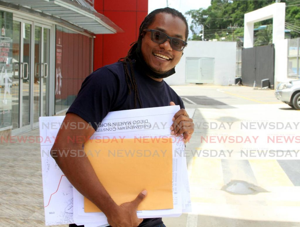Entertainer The Incredible Myron B, leaves the Diego Martin Sports Complex after filing his nomination papers for the upcoming general election. - Ayanna Kinsale