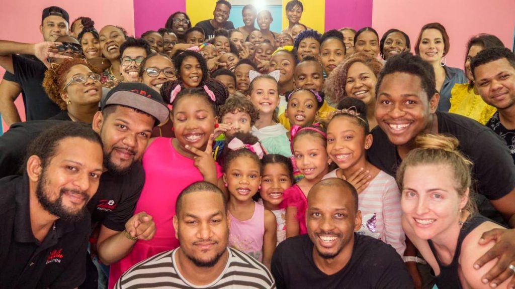 Cast and crew at the production of the first video from the SocaKidz album.   -