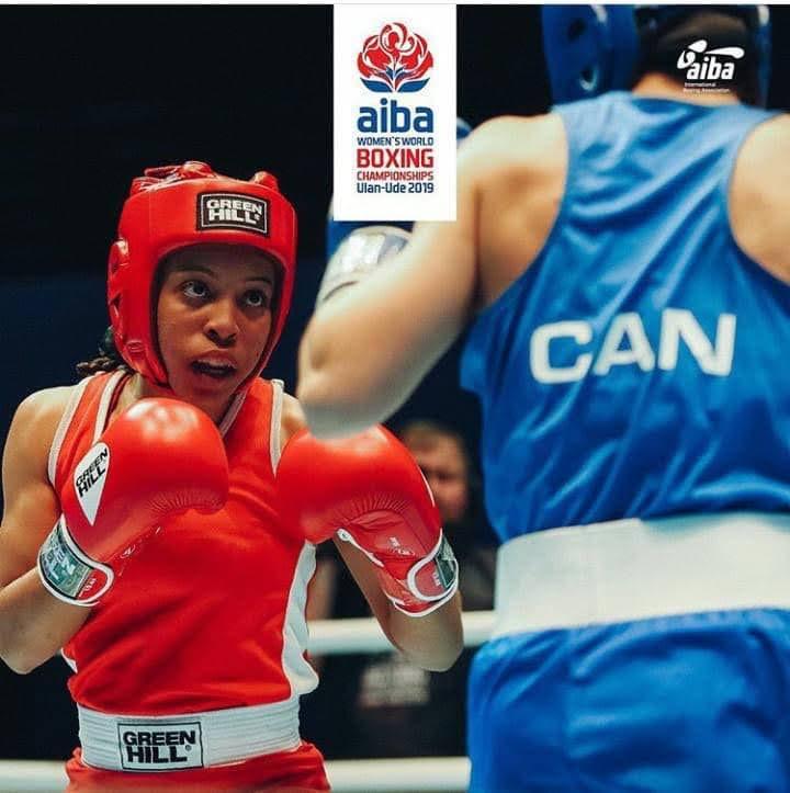 TT's Olympic boxing prospect, Tianna Guy, left.  -