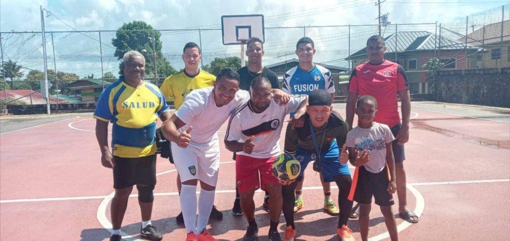 One of the Venezuelan teams in Siparia is preparing to participate in the futsal tournament. - Grevic Alvarado