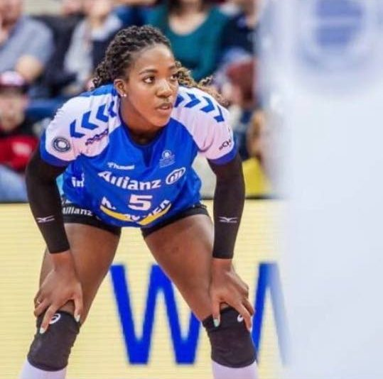 German-based TT volleyball player, Channon Thompson.  -
