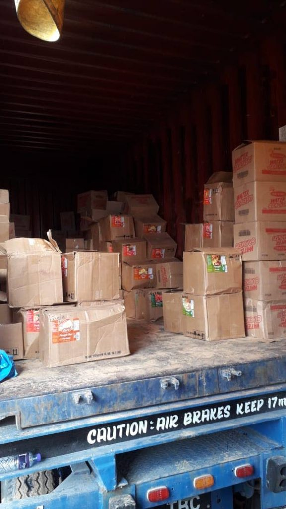 SEIZED: Boxes of marijuana with a combined value of $94m were seized by police from inside this container in Charlieville on Wednesday. PHOTO COURTESY TTPS - ttps