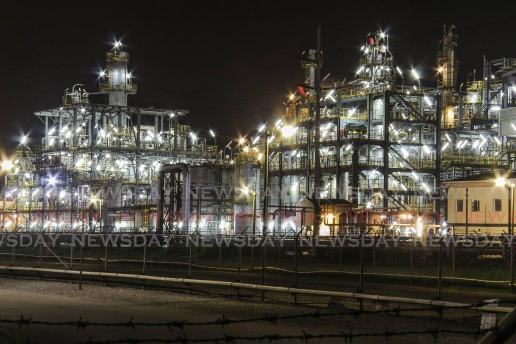 MHTL at night: Methanol Holdings (Trinidad) Ltd's AUM plant at the Point Lisas Industrial Estate.  - Jeff K Mayers