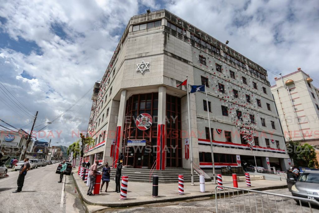 The Police Administrative Building on Sackville Street, Port of Spain   Photo: Jeff K Mayers