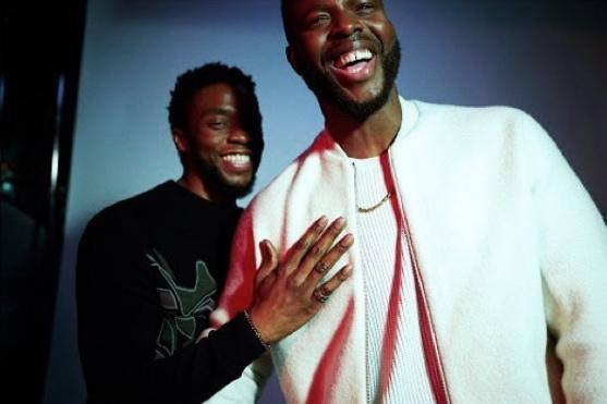 Chadwick Boseman and TT's Winston Duke. INSTAGRAM PHOTO   -