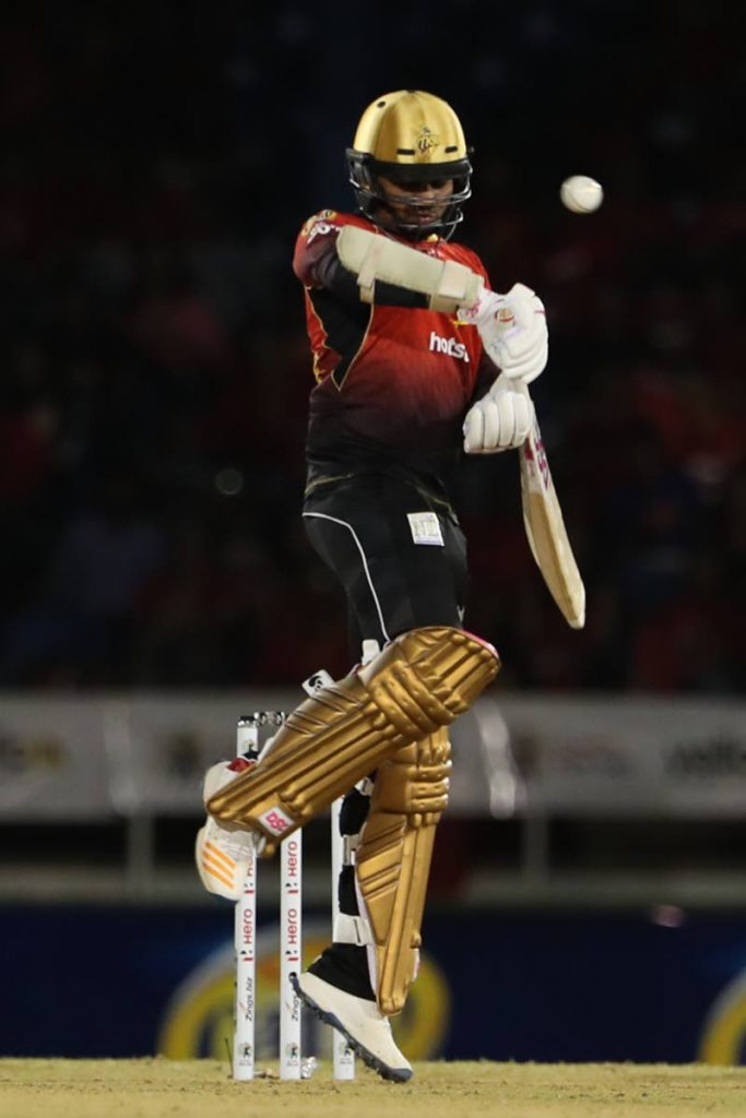 In an August 8, 2018 file photo, Sunil Narine of Trinbago Knight Riders dodges a short ball during the Hero Caribbean Premier League match between Trinbago Knight Riders and St Lucia Stars at the Queen's Park Oval, St Clair. PHOTO COURTESY CPL T20 -