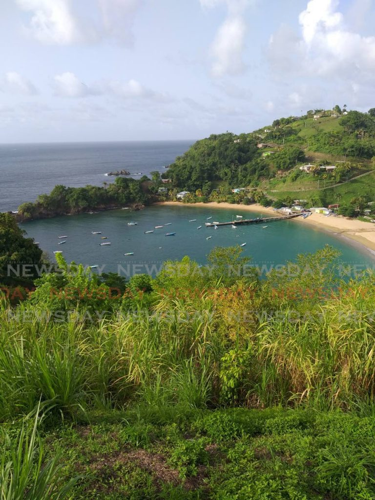 A view from the Parlatuvier lookout in northwest Tobago. PHOTOS BY TYRELL GITTENS -