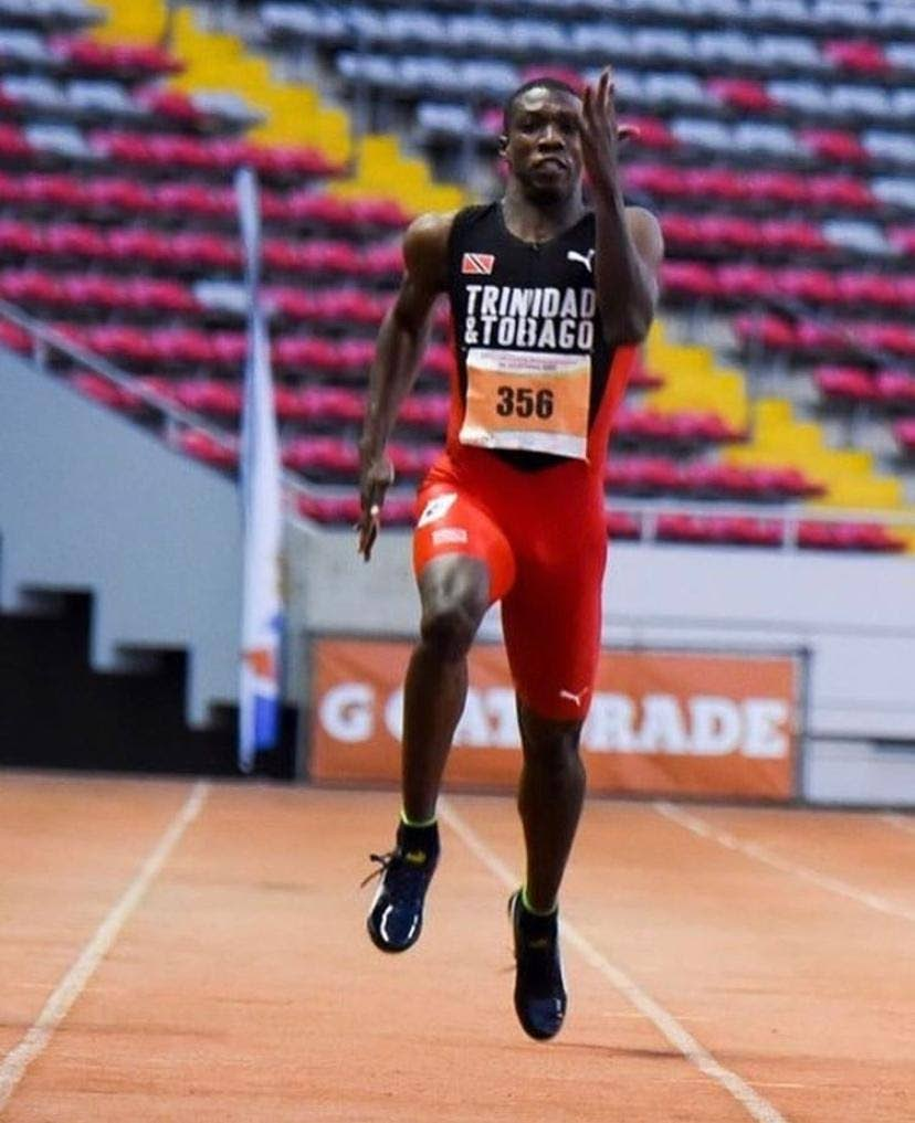 TT's Jabari Fox sprints to sixth position in the boys 200m final at the Pan American Junior Games in 2019. He clocked a personal best of 21:14s. -