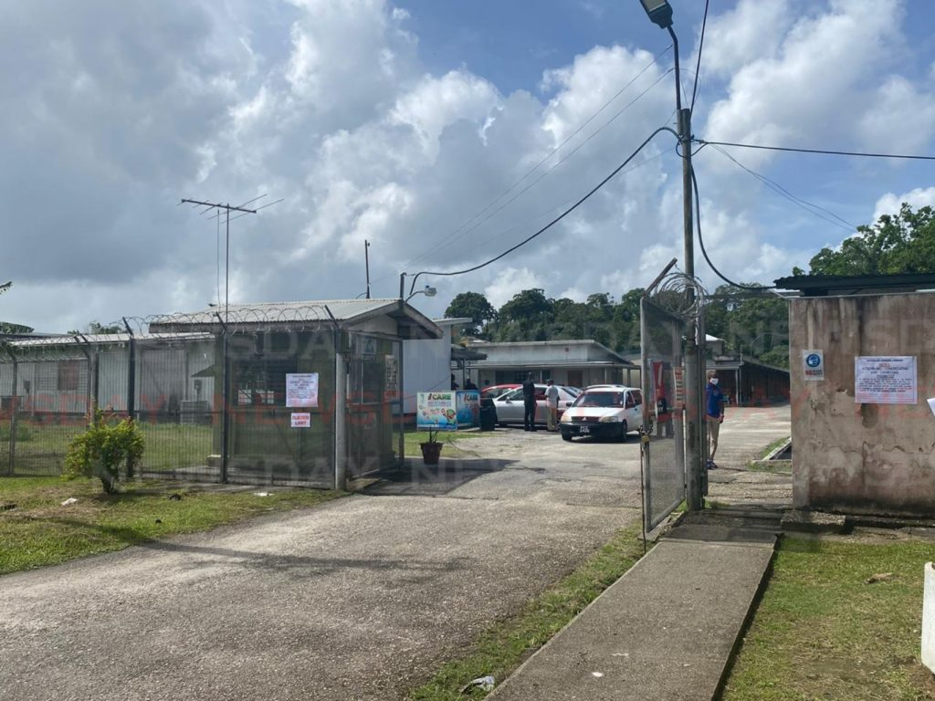 The polling station – Point Fortin East Secondary School. - Narissa Fraser