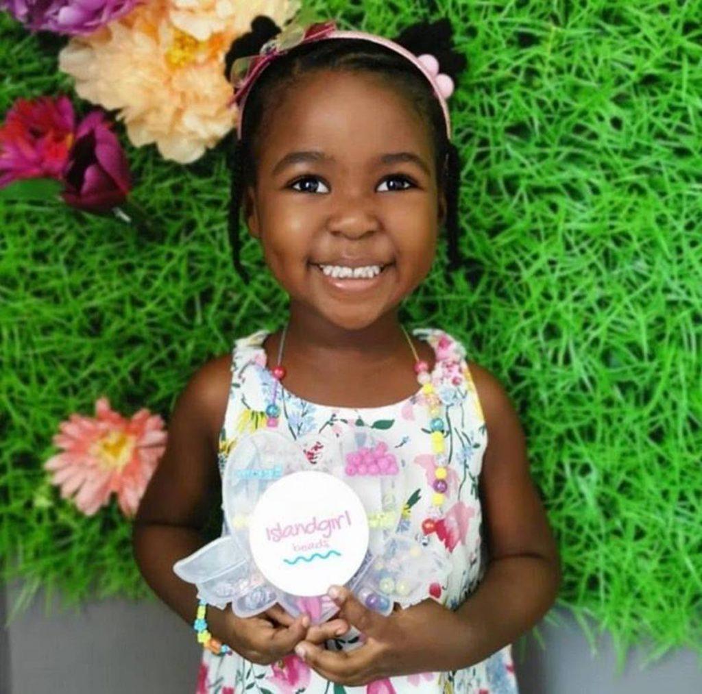 Four-year-old Coryn Anaya Clarke, author of Chronicles of Coryn: 7 Days of Fun -