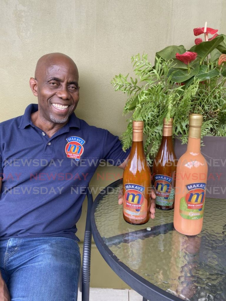 Gregory McGuire can celebrate that his creation, Makay's cream liqueur, has been awarded a gold medal at the 2020 Spirit International Prestige awards. - CARLA BRIDGLAL