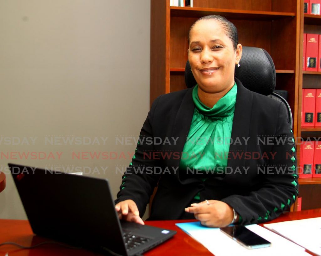 Minister in the Ministry of Education Lisa Morris-Julian, at her office in Port of Spain on Friday, says early childhood education is among her first priorities. - ROGER JACOB