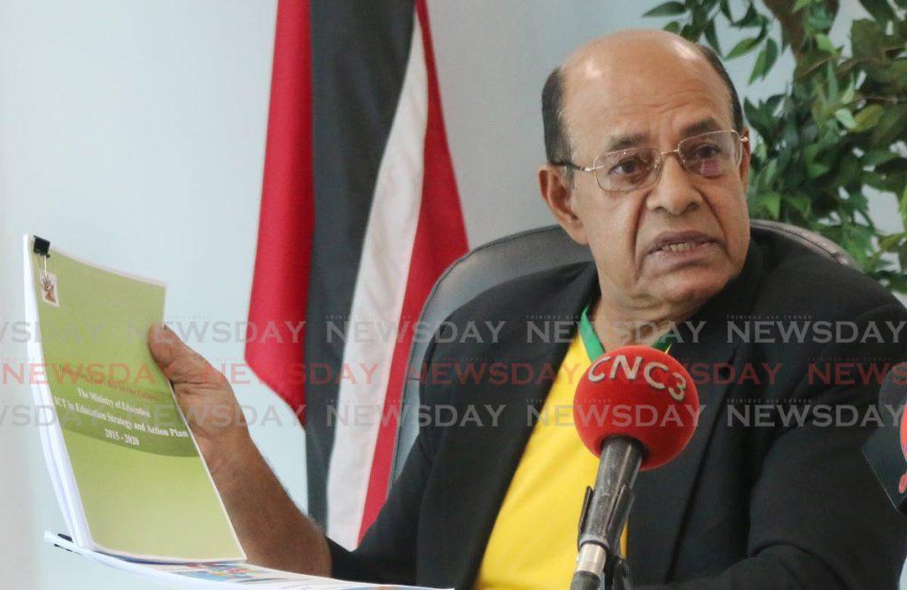 Former education minister Dr Tim Gopeesingh. -