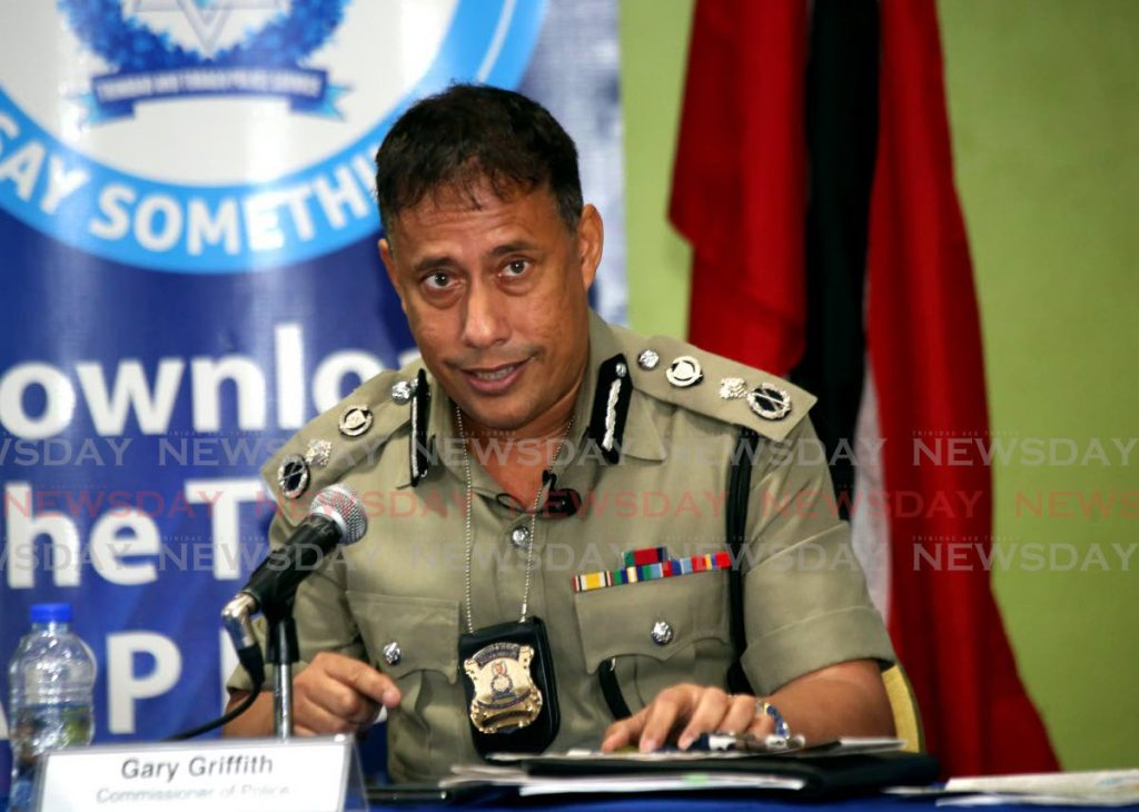 Police Commissioner Gary Griffith at a recent police press briefing at the Police Administration Building, Port-of-Spain.  - SUREASH CHOLAI