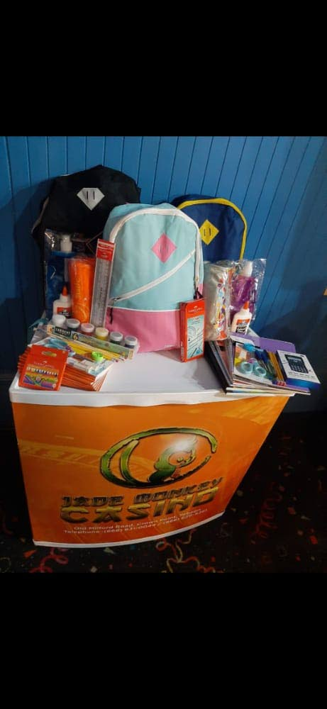 Jade Monkey donated stationery supplies to staff.  -