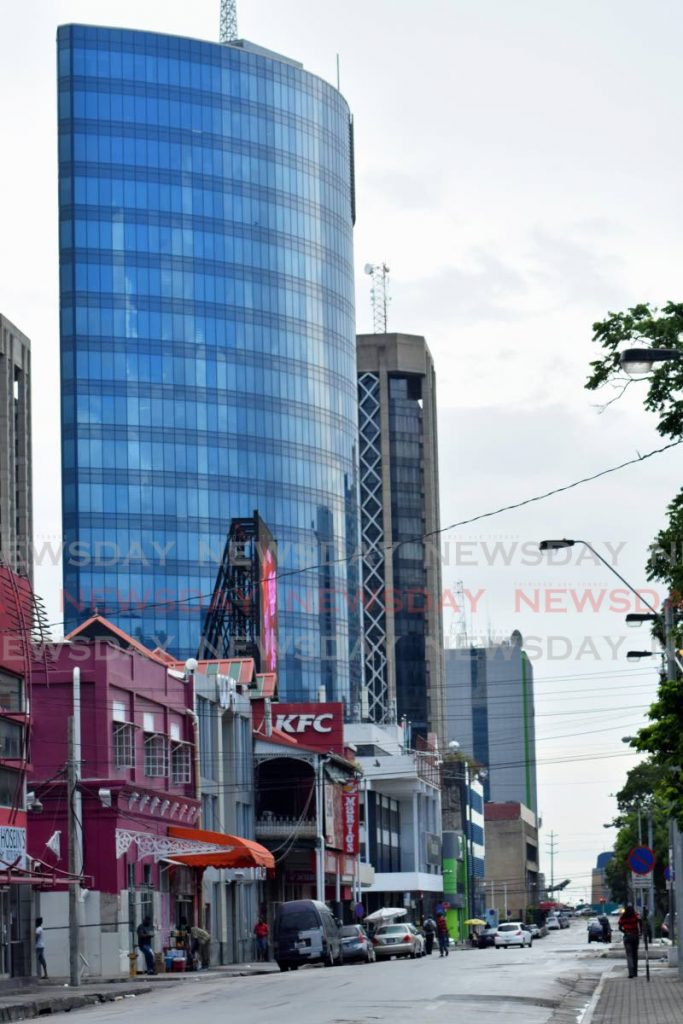 A view of a deserted Independence Square, Port of Spain on Sunday September 13. While Sundays are slower days in the capital city, covid19 has curtailed activities as more people stay at home or away from public spaces, affecting business activity. - Vidya Thurab