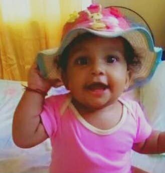 Nine-month-old Sofia Rivas was found by police in Curepe -