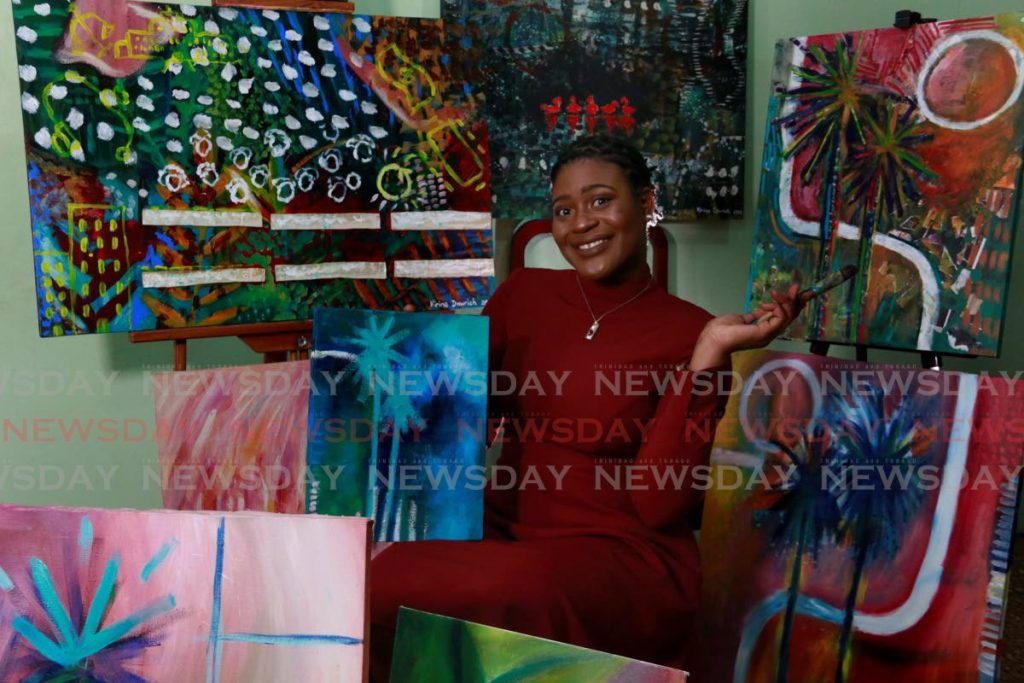 As a child Kirina Dowrich made doll houses from cardboard boxes. Today the fine and digital artist has set her sights on interior design. - Marvin Hamilton