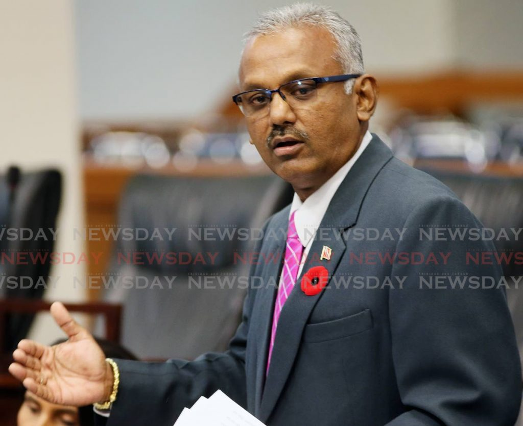 Couva South MP Rudranath Indarsingh. -