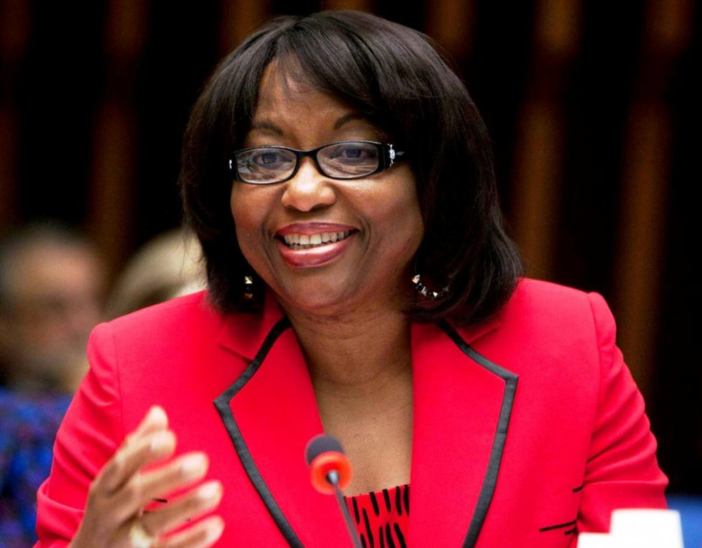 PAHO director Dr Carissa F Etienne