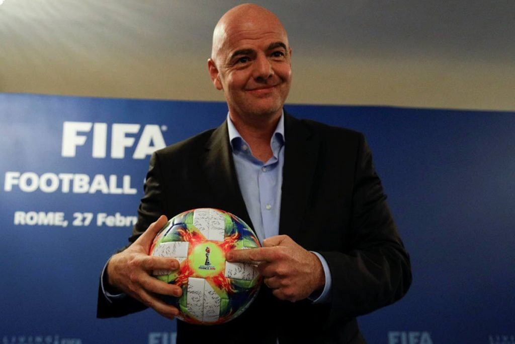 FIFA president Gianni Infantino -