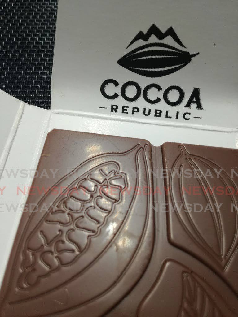 An intricate design on a bar of Cocoa Republic chocolate.  - FILE PHOTO
