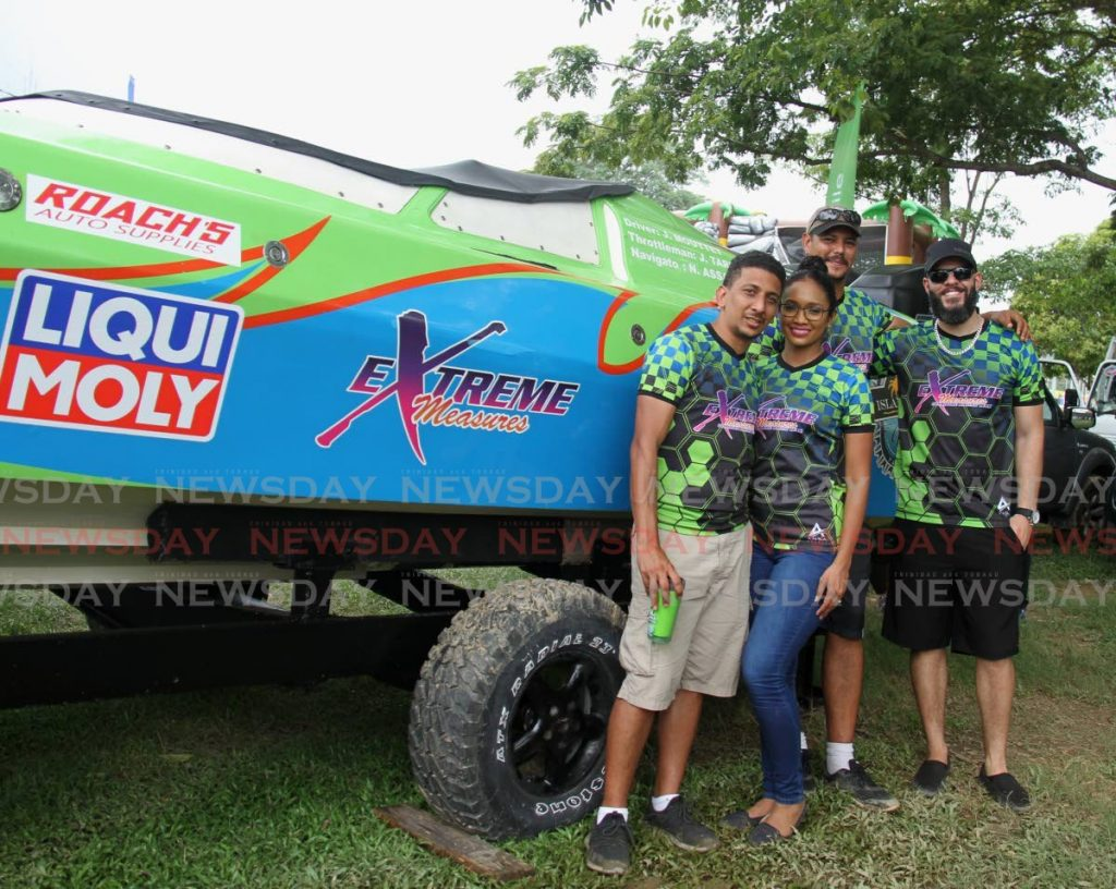In this Aug 15, 2019 file photo, Extreme Measures members at the 2019 Great Race Boat Show, at the Queen's Park Savannah, Port of Spain.  - AYANNA KINSALE