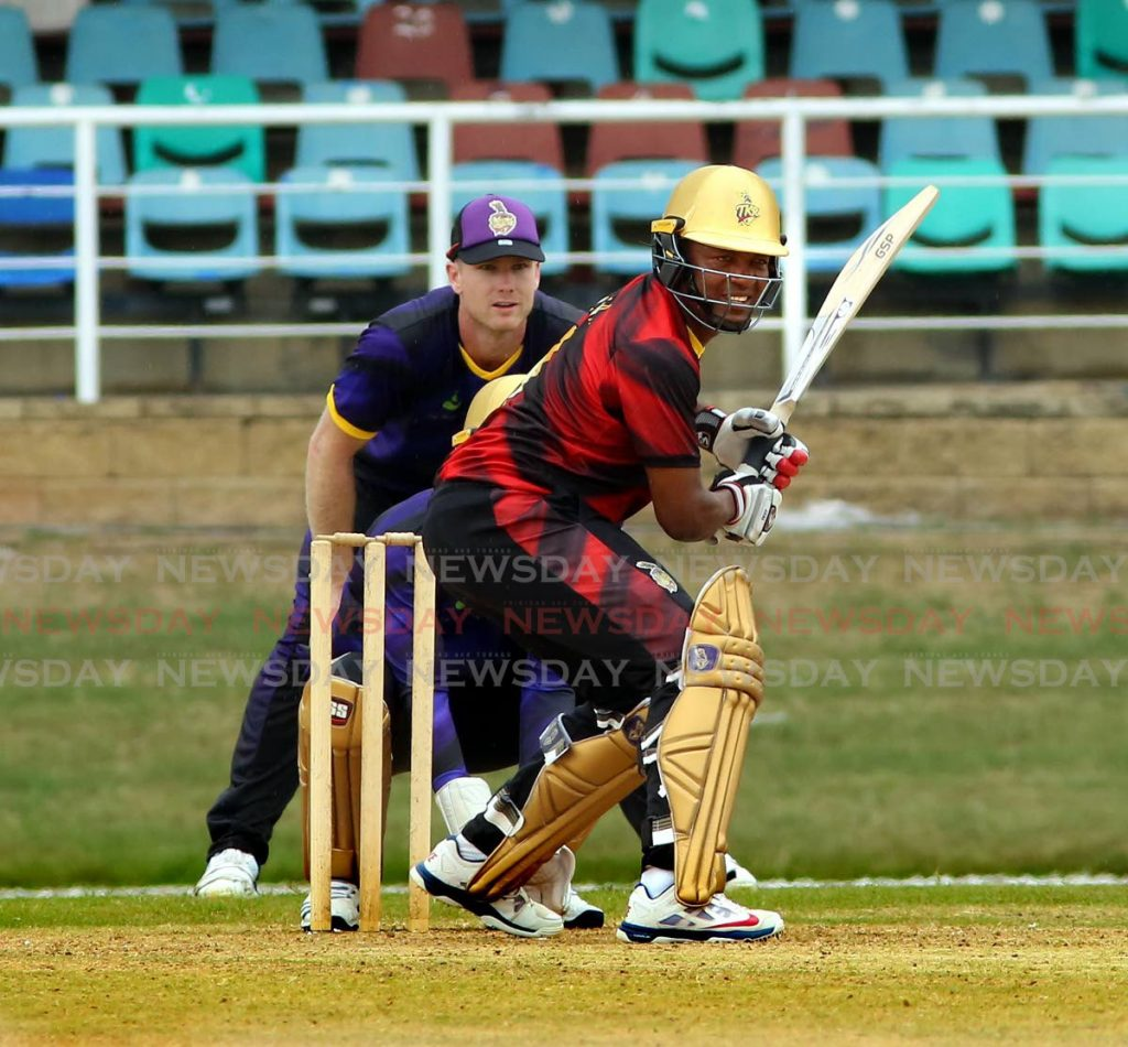 In this Sep 1, 2019 file photo, cricket legend Brian Lara looks to play a shot during a Hero Caribbean Premier League 2019 warm up match between Dwayne Bravo XI and the Kieron Pollard XI. A film about Lara called 501 Not Out will feature, on Wednesday, on the opening night of the 15th edition of the TT Film Festival. - Sureash Cholai