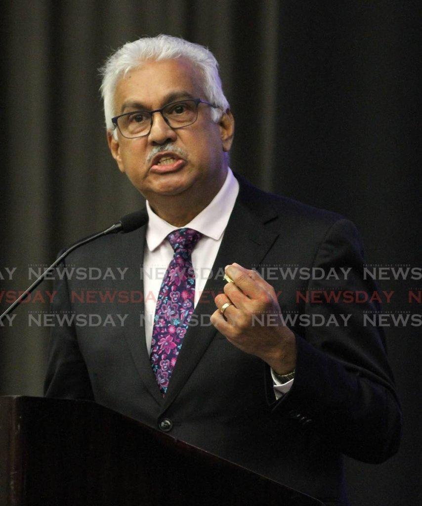 Minister of  Health Terrence Deyalsingh. -