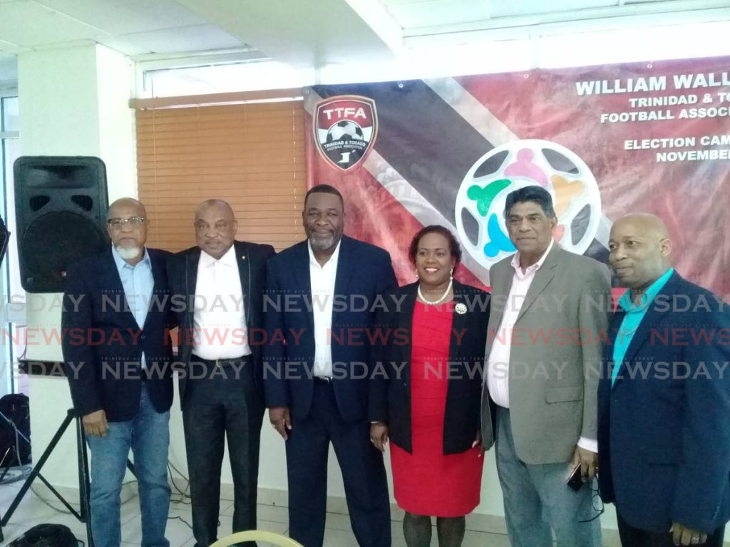 The United TTFA members Keith Look Loy, from left, Sam Phillip, William Wallace, Susan Joseph-Warrick, Anthony Harford and Clynt Taylor.  - Jelani Beckles
