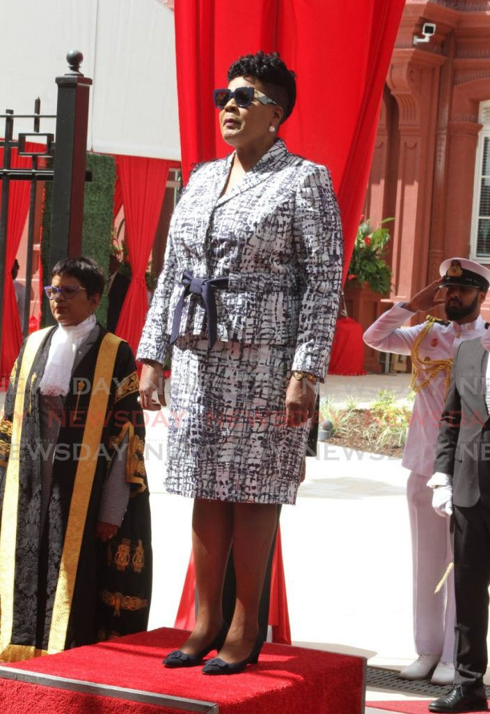 President Paula-Mae Weekes during the ceremonial opening of Parliament on August 28. - ANGELO MARCELLE