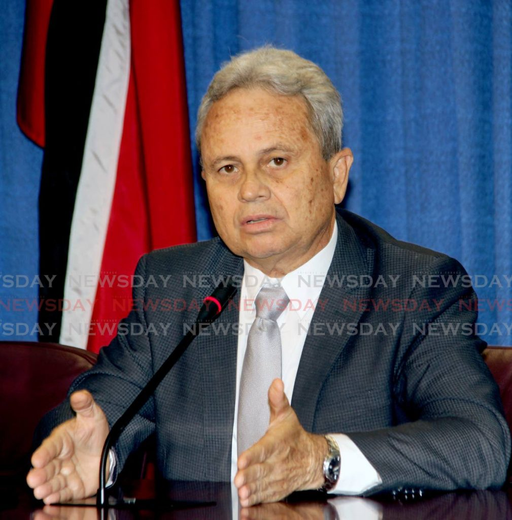File photo: Finance Minister Colm Imbert