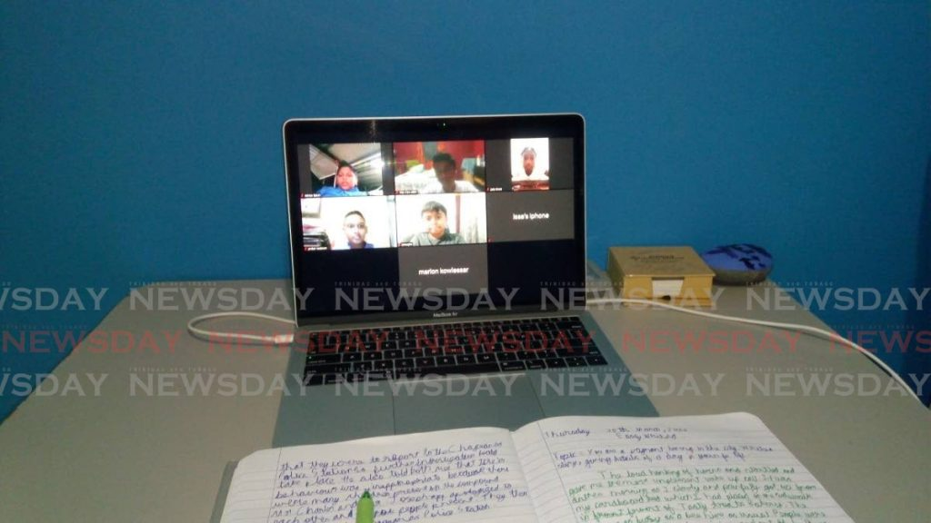 An online class in session. -