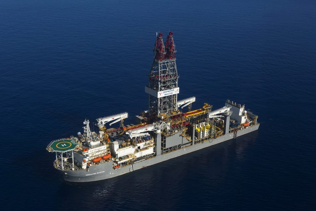 The Transocean deepwater drillship, the Invictus, returned to TT waters this month. - Photo courtesy BHP
