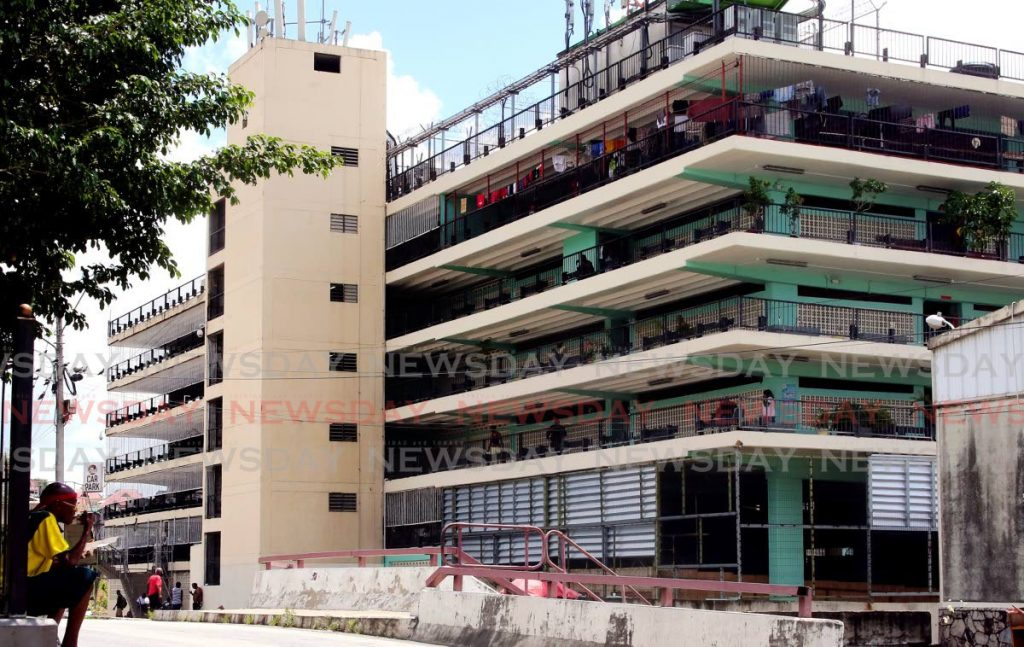 File photo:  Riverside Plaza Car Park, Port of Spain, where the homeless are sheltered. Photo by Sureash Cholai