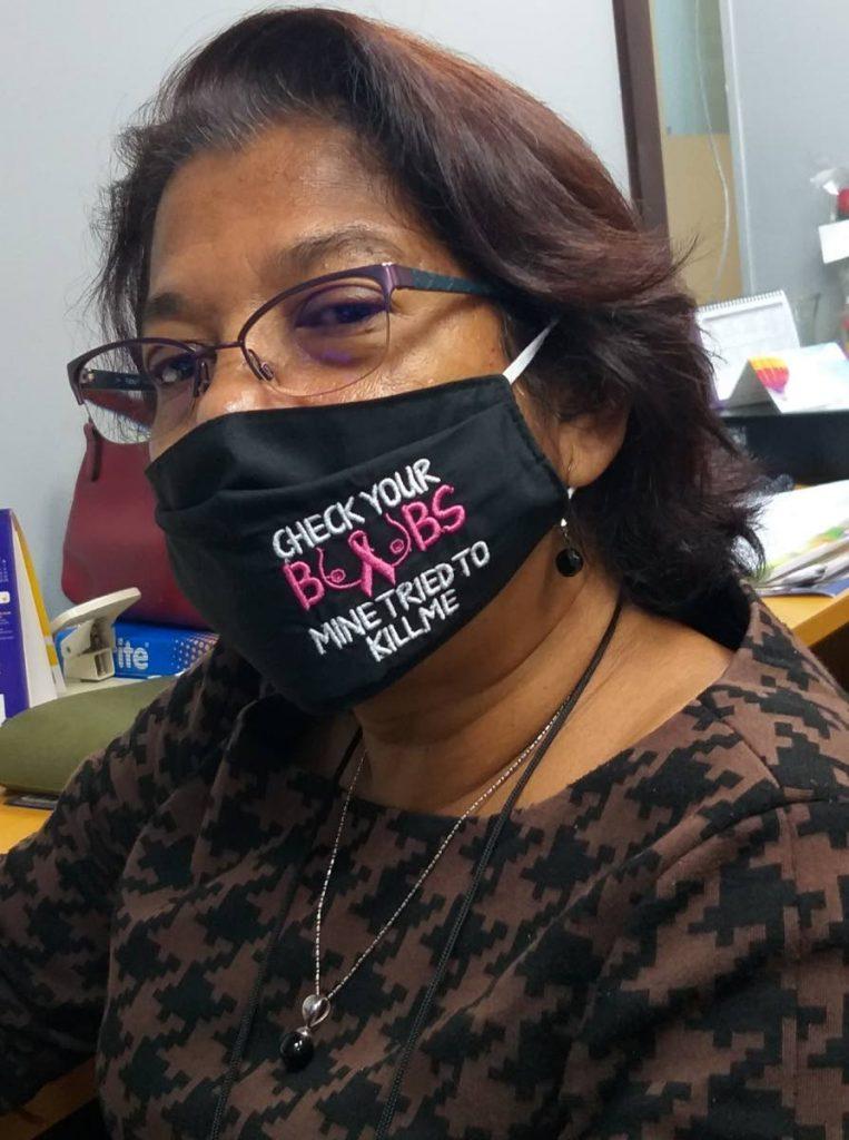 For breast cancer survivor Ann Marie Seebaran, covid19 has been a scary time. Photo courtesy Ann Marie Seebaran -