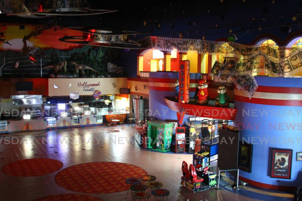The food concession counter and entertainment lobby at MovieTowne in Port of Spain. - ROGER JACOB