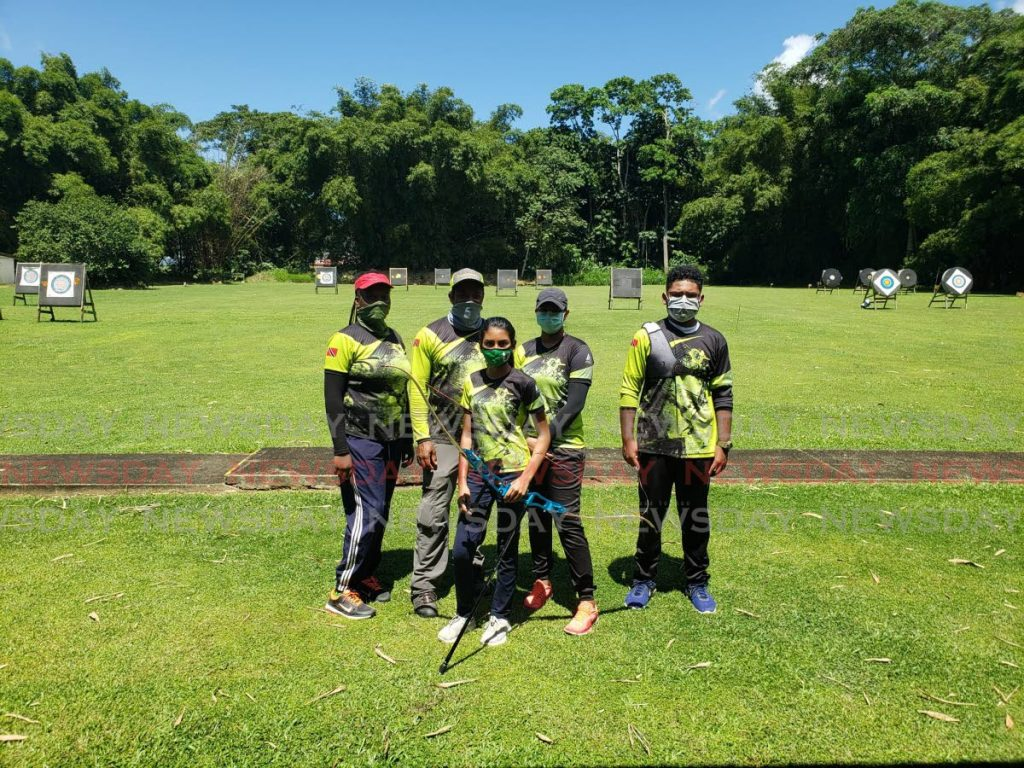 Members of South Arrows Archery Club. -