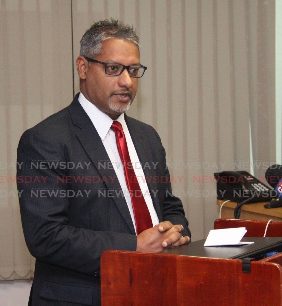 PLEASED: Agriculture Minister Clarence Rambharat. -