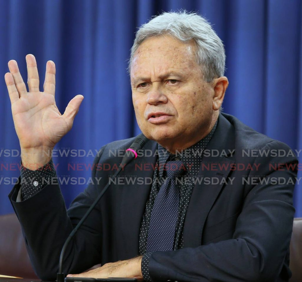 Finance Minister Colm Imbert. - File Photo