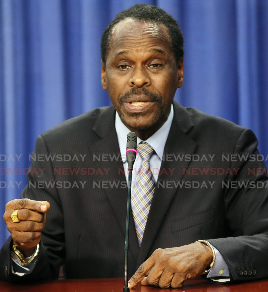 Minister of Youth Development and National Service Fitzgerald Hinds.