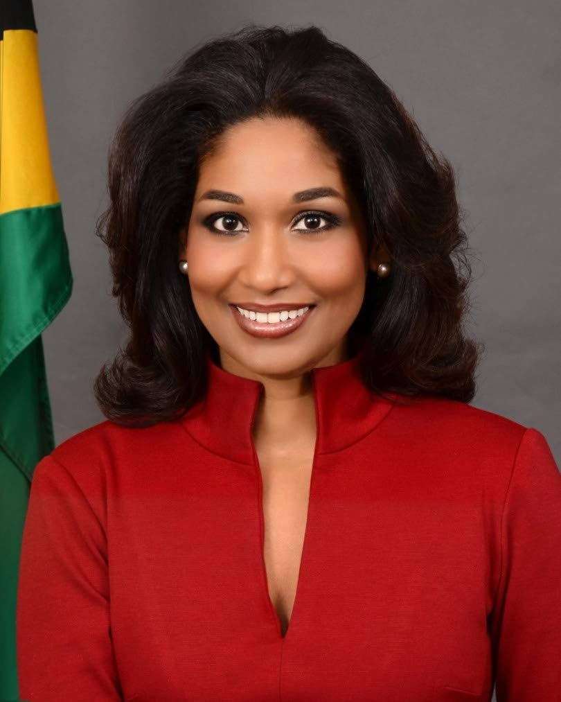 Lisa Hanna who is making a bid to become leader of Jamaica's People's National Party (PNP).  -