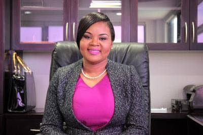 Minister of Sport and Community Development Shamfa Cudjoe -